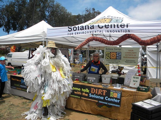 Solana Center booth with volunteers at EcoFest
