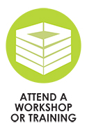 Green Compost Bin Icon - Attend a Workshop or Training with Solana Center